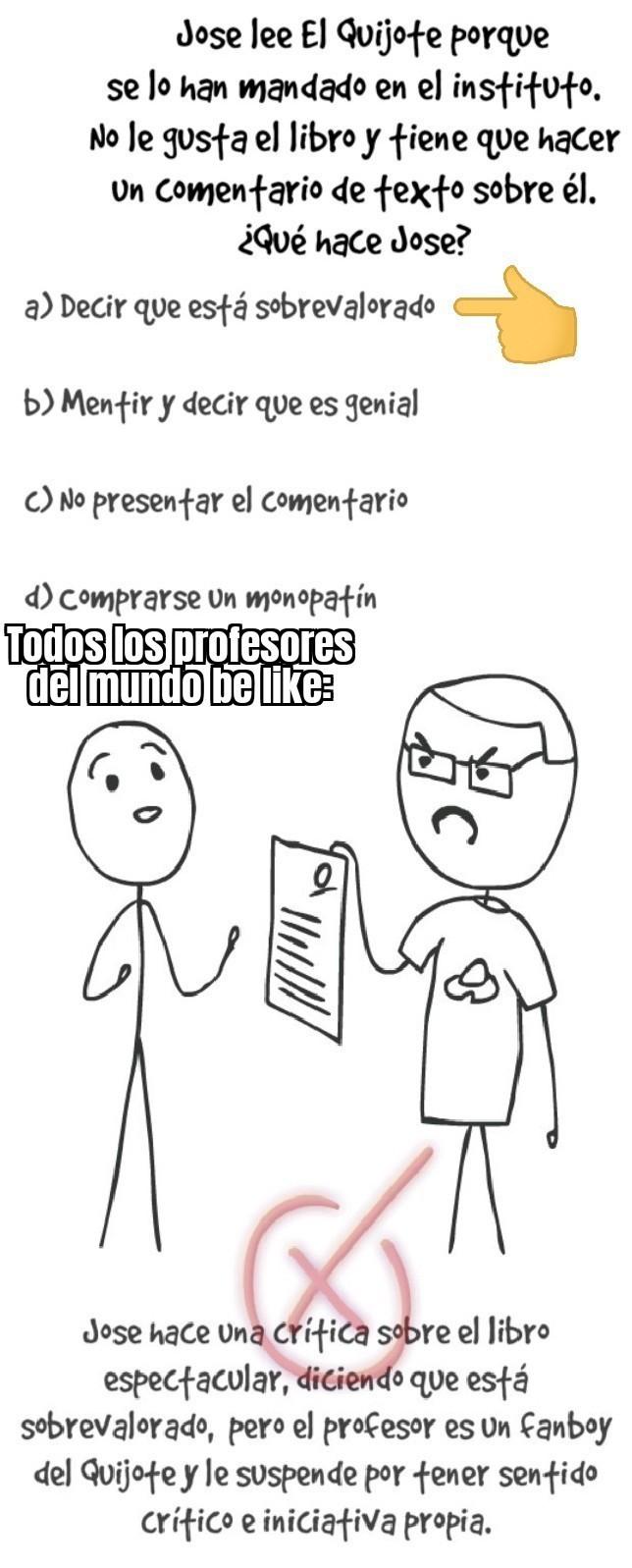 Profes be like - meme