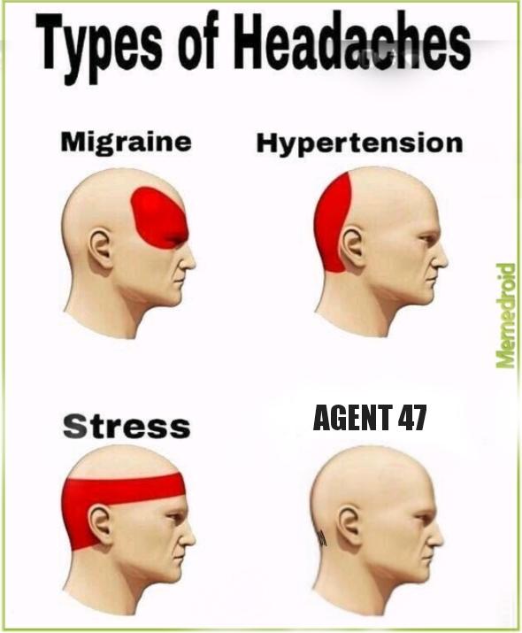 Types of Hitman - meme