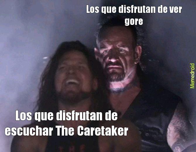 Contexto:The caretaker es un álbum de música que hace una personas con Alzheimer? - meme