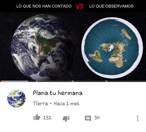 La tierra es plana - meme