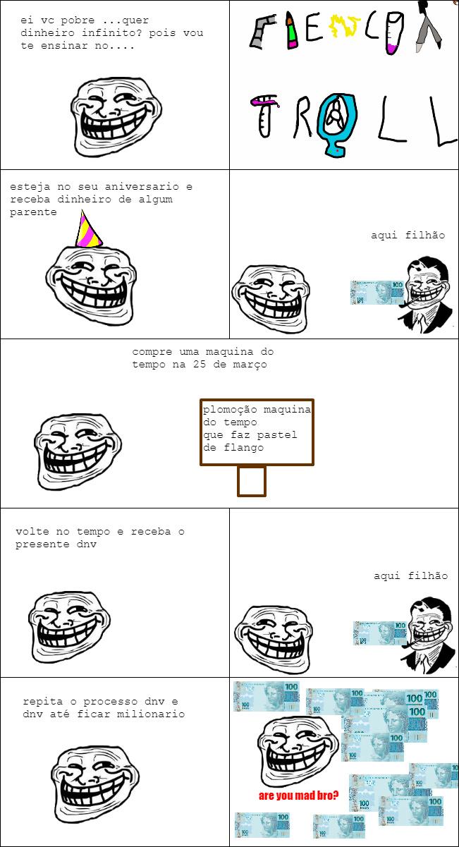 ciencia troll(observe a referencia no chapeu) - meme
