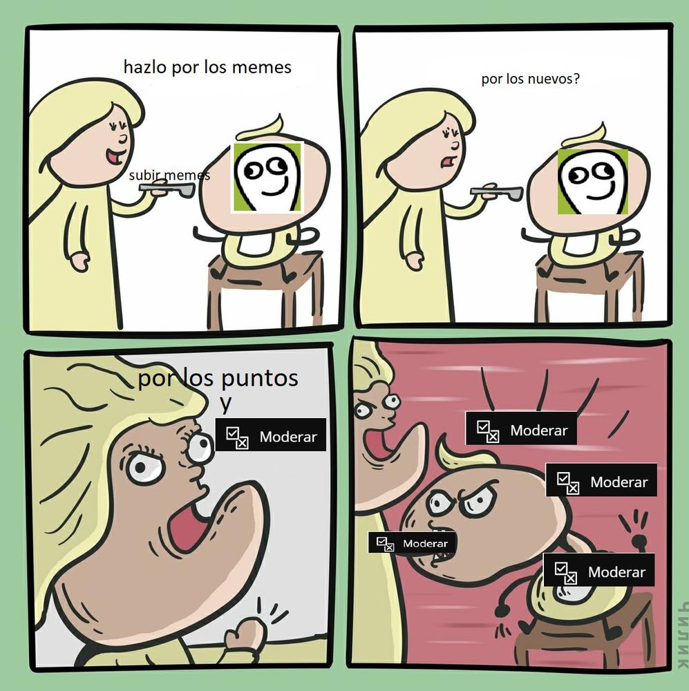 moderar - meme