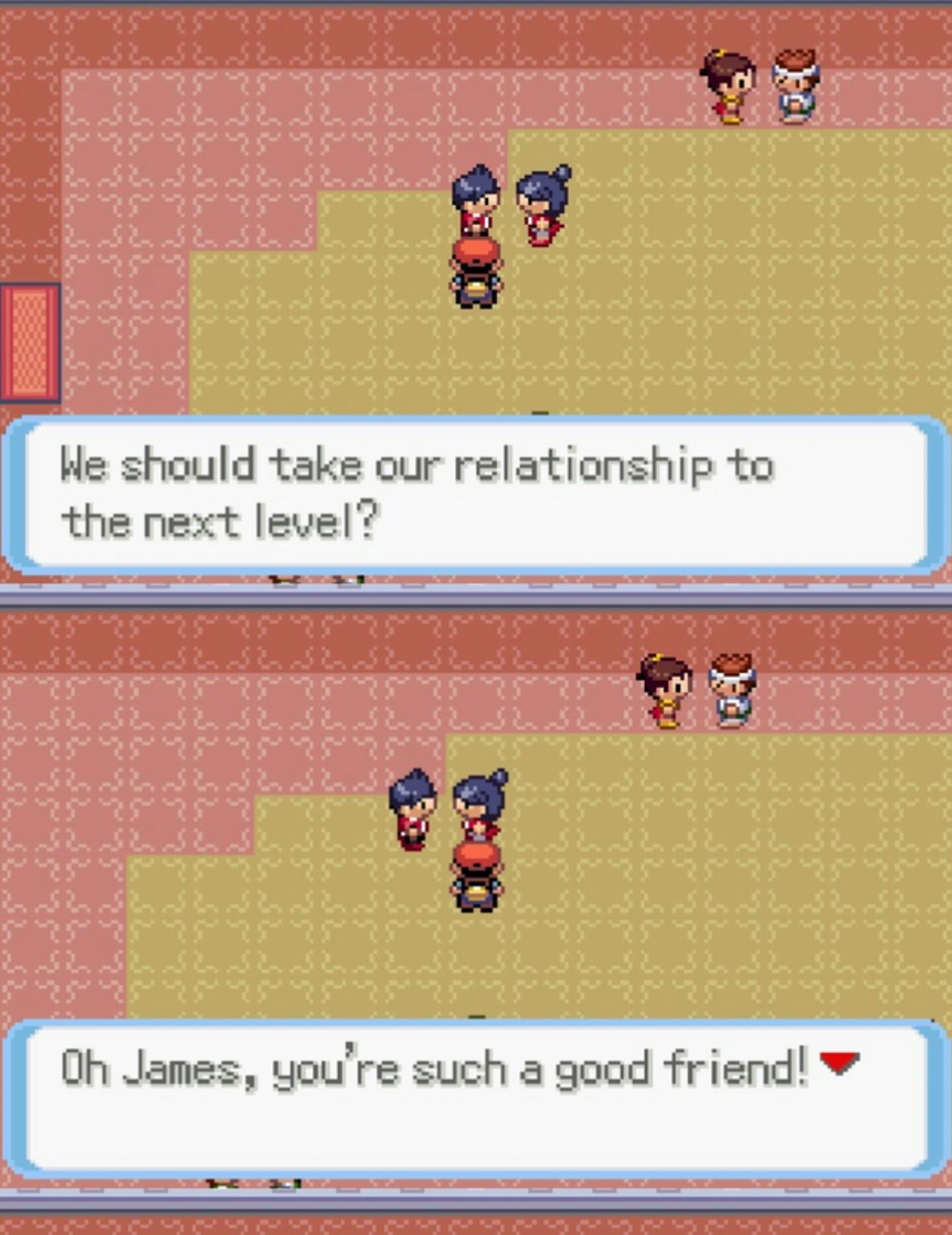 Pokémon friend zoning - meme