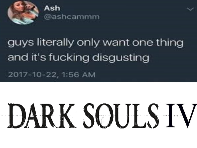 I certainly do. Am looking forward to bloodborne 2 asw ell though. - meme
