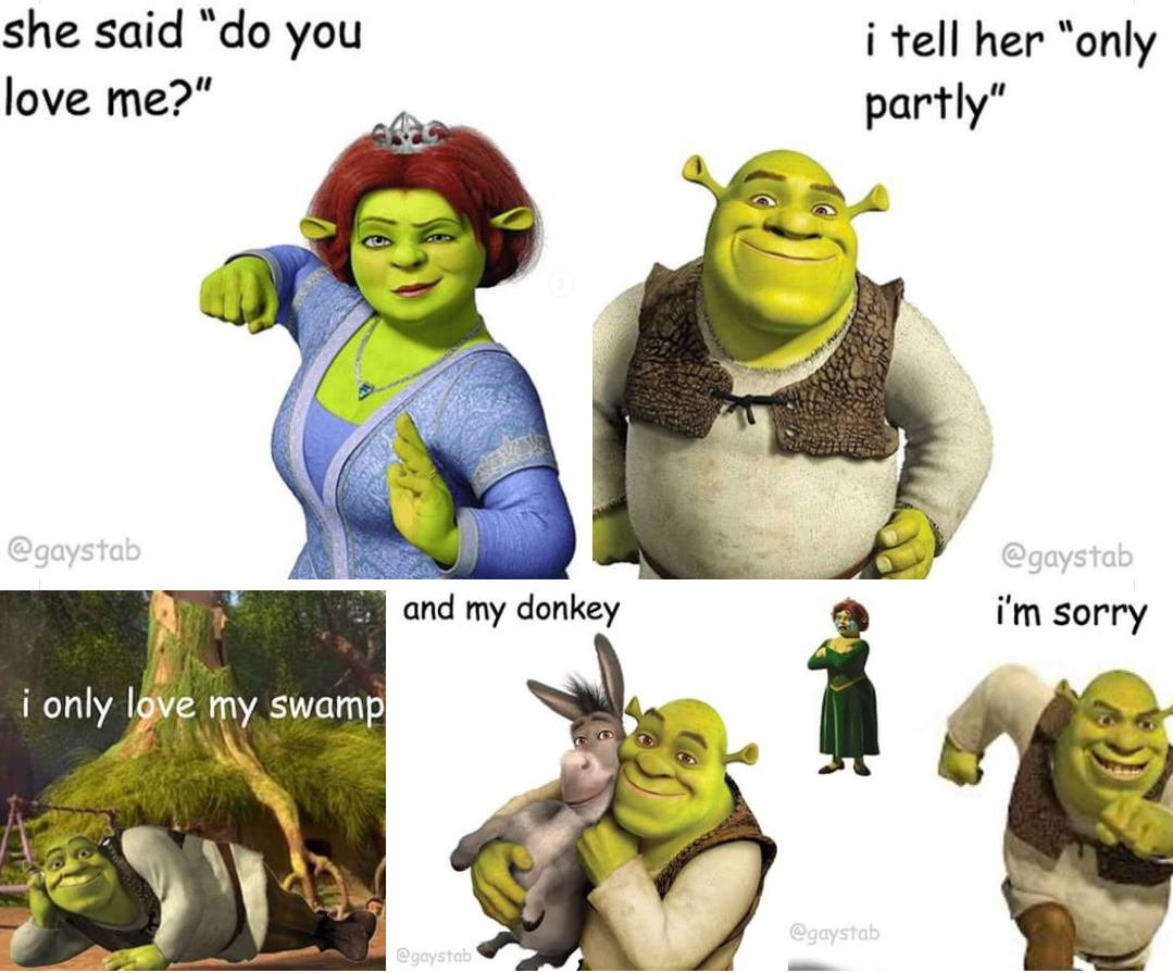 Shrek for love Shrek for life - meme
