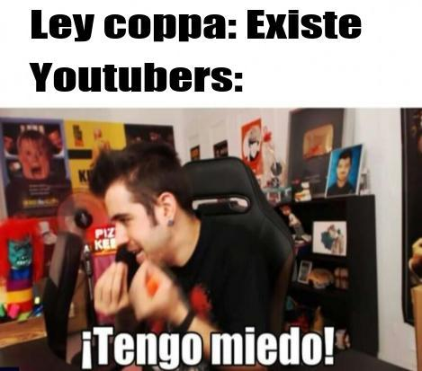 F por youtube - meme