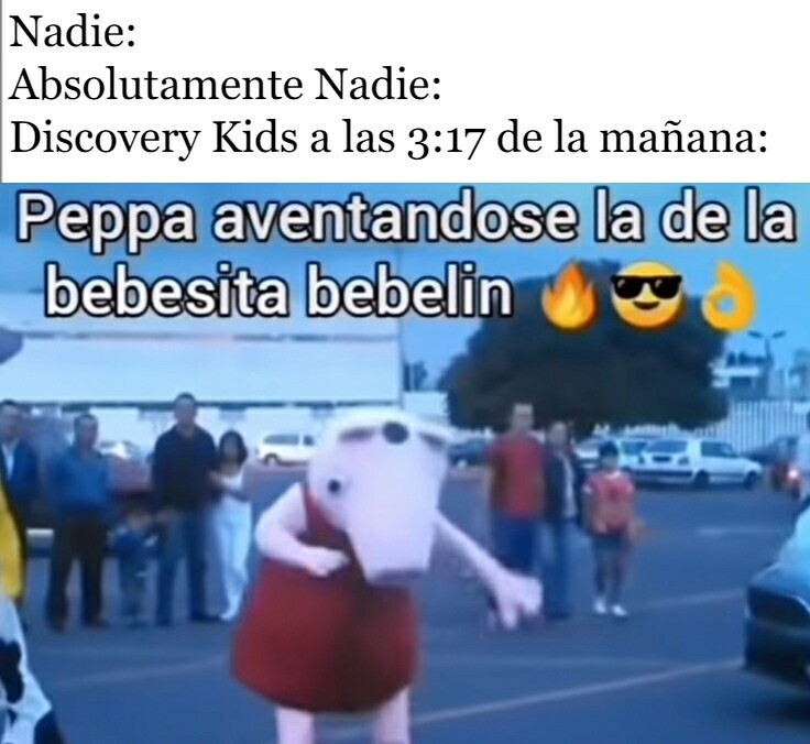 Esto me apareció en Discovery Kids a las 3:17 de la mañana - meme