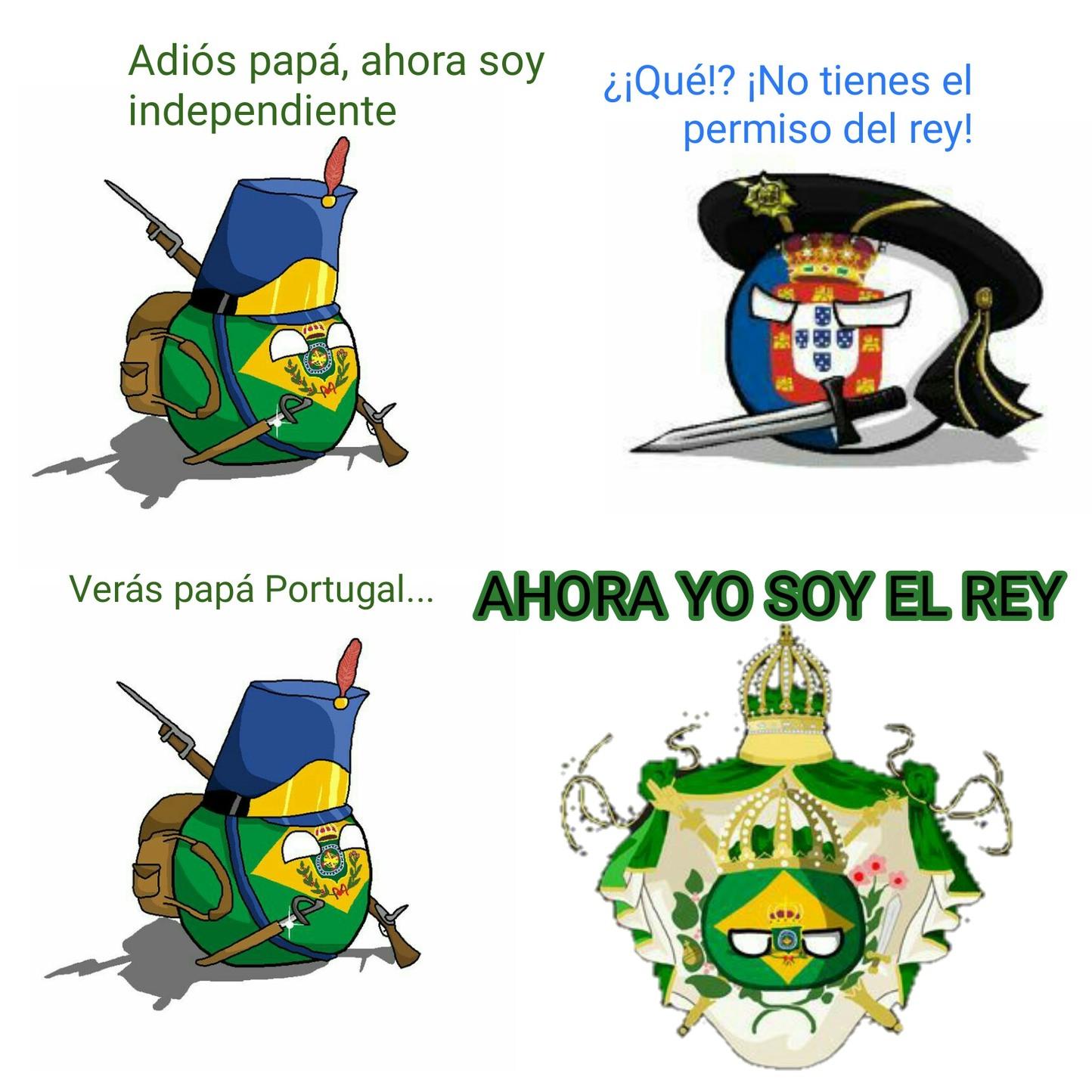 Corté a Brasil y a Portugal y los pegué - meme