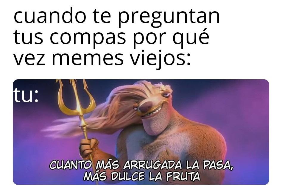 Arrugados - meme
