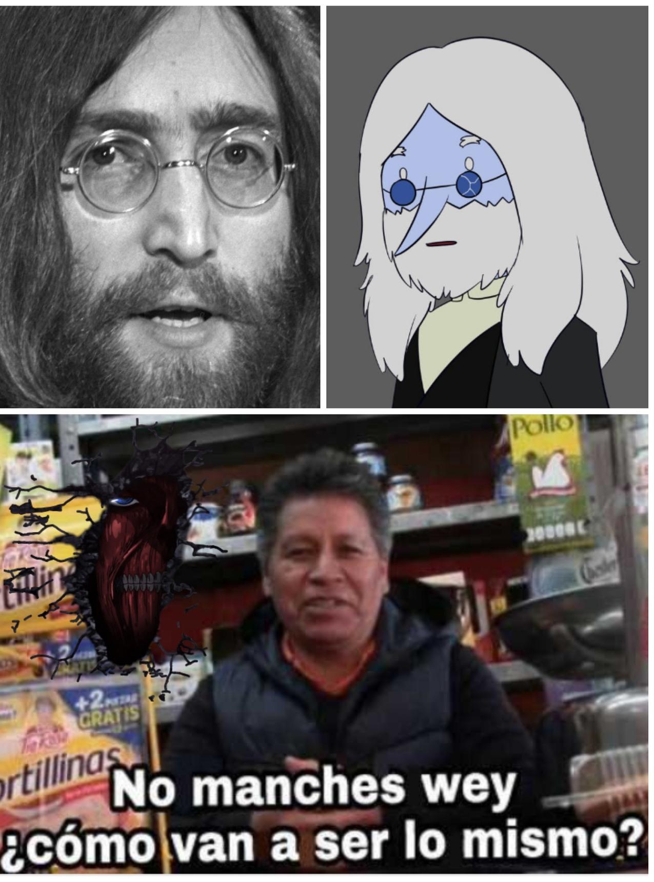 Jhon Hielo y Rey Lennon...¿o era al reves? - meme