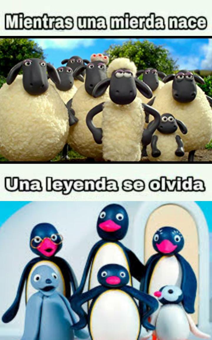 Shaun VS Pingu - meme