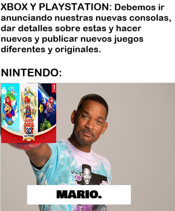 otro meme burlándose de Nintendo.
