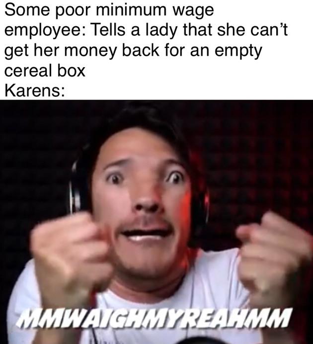 Karen's suck - meme