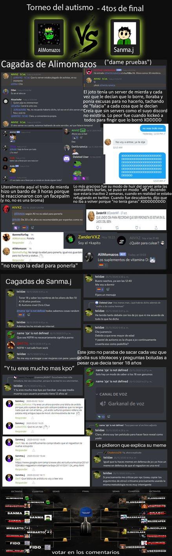 AliPutazos vs Sanma.joto. Voten por el más autista dijo alguien - meme