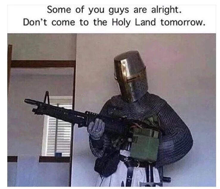Don't come tomorrow guys, especially the Muslims. - meme