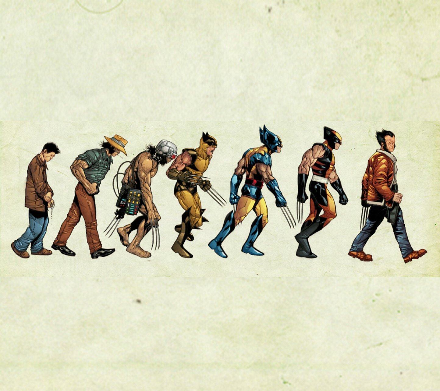 The evolution of wolverine - meme