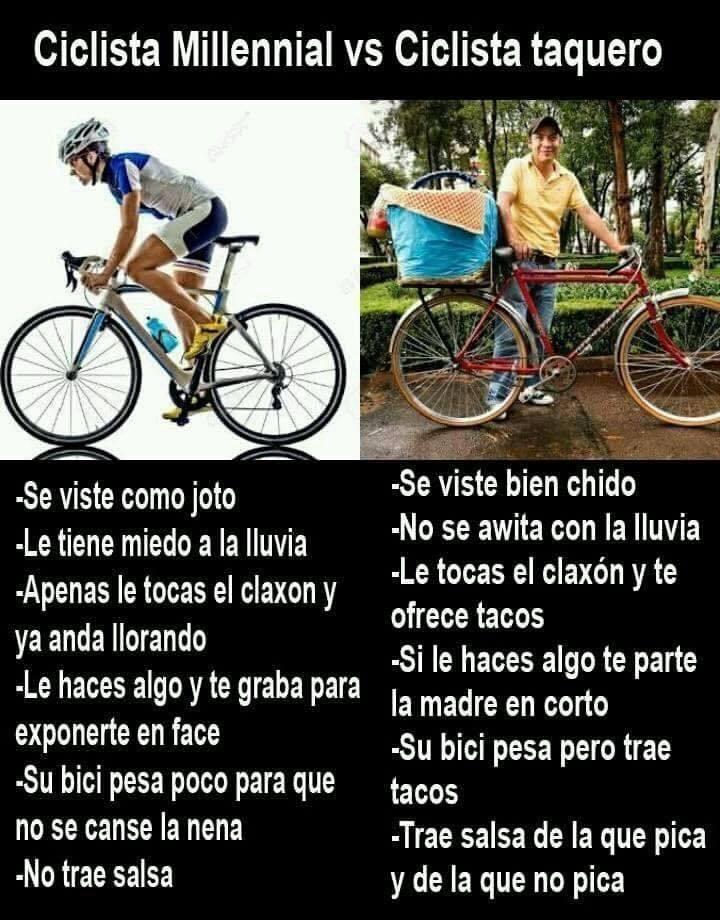 ciclistas - meme