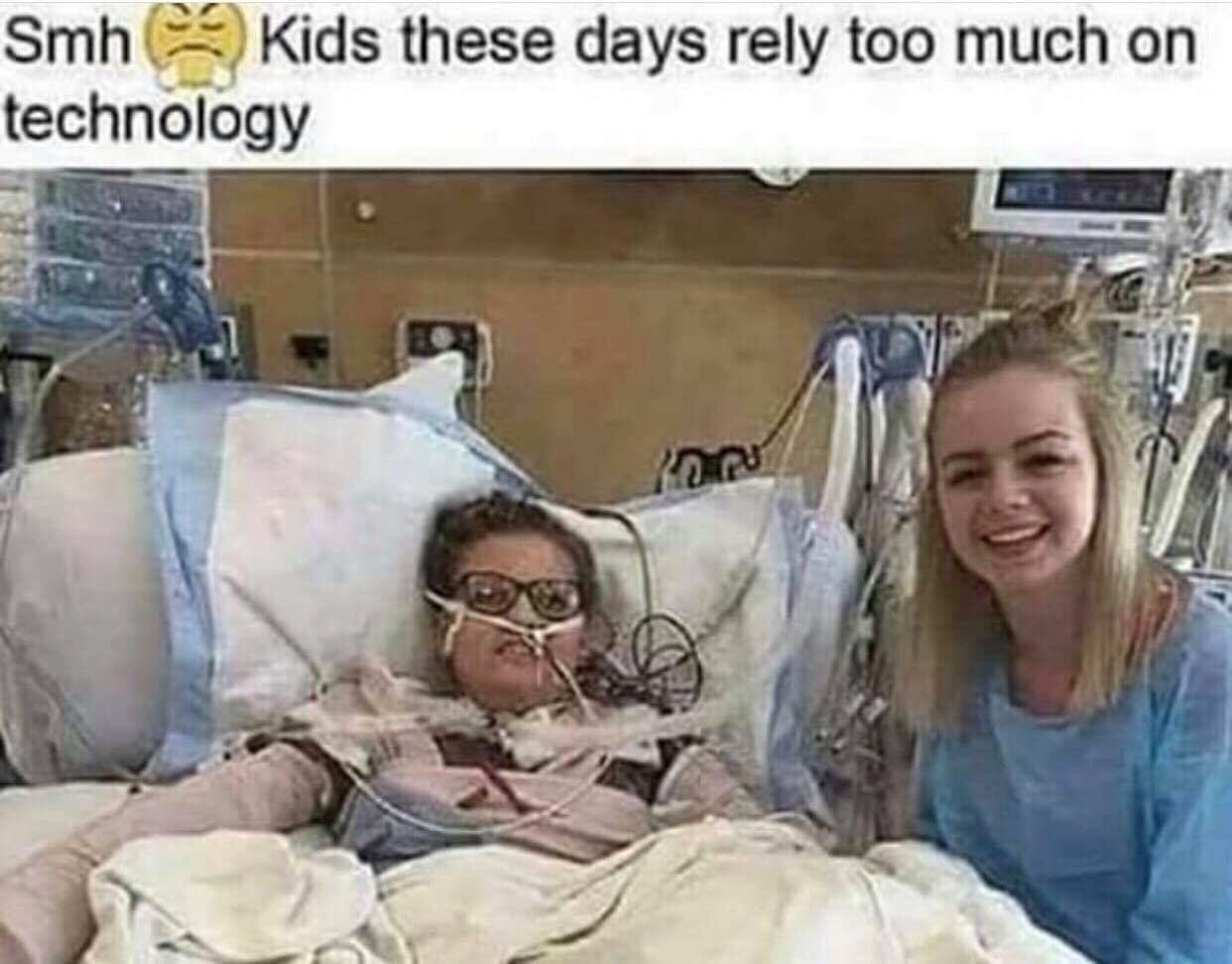 Kids these days smh - meme