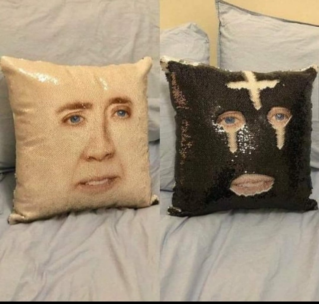 pillow cage - meme