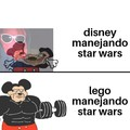 Disney: manejar star wars es complicado,lego : observe