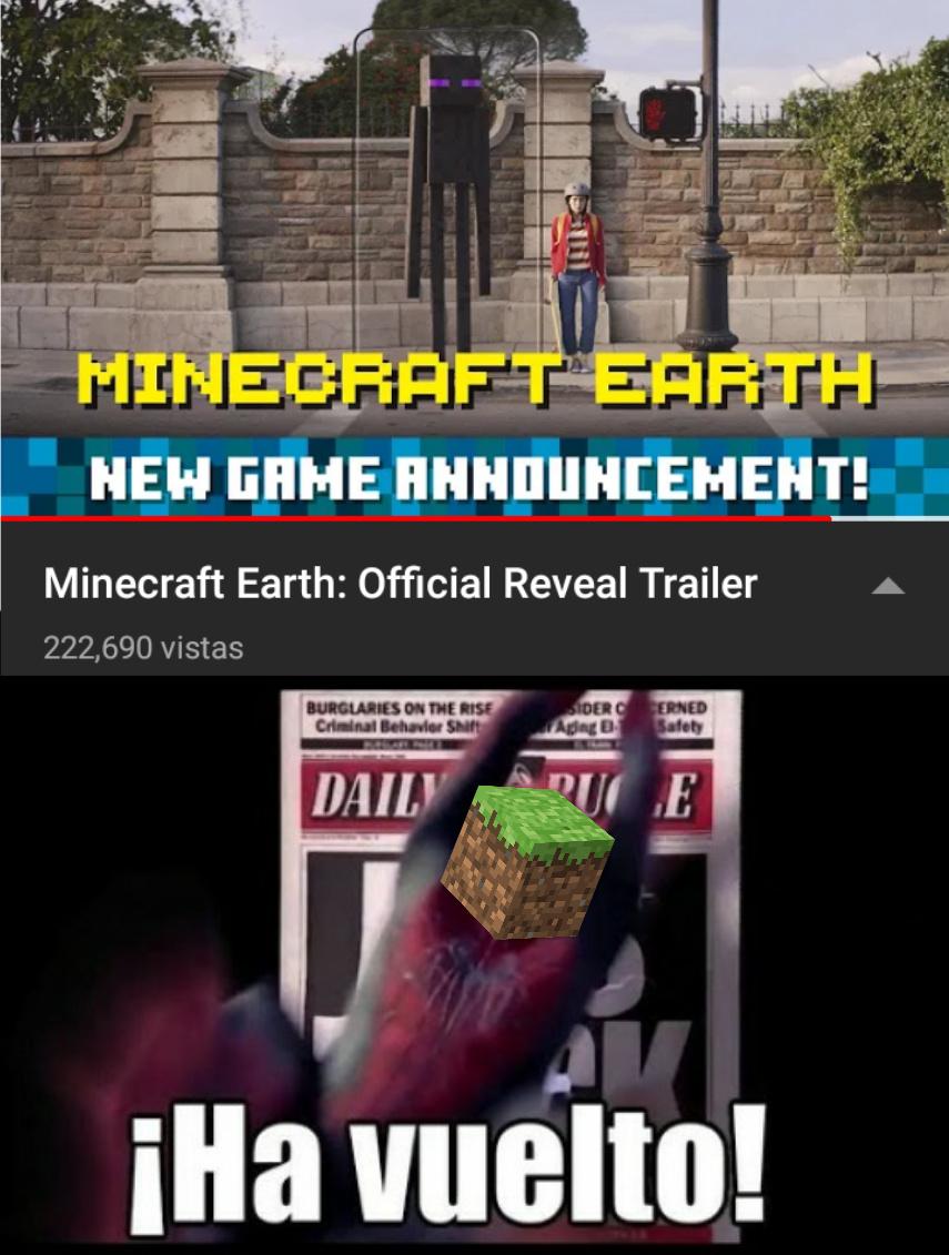Ya 10 años de Minecraft - meme
