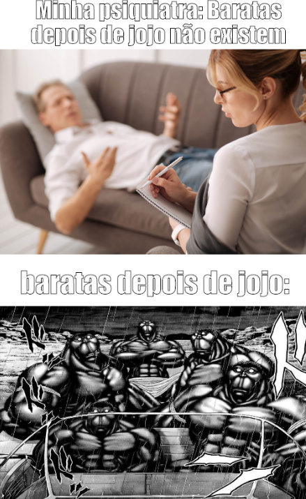 Baratas depois de jojo - meme