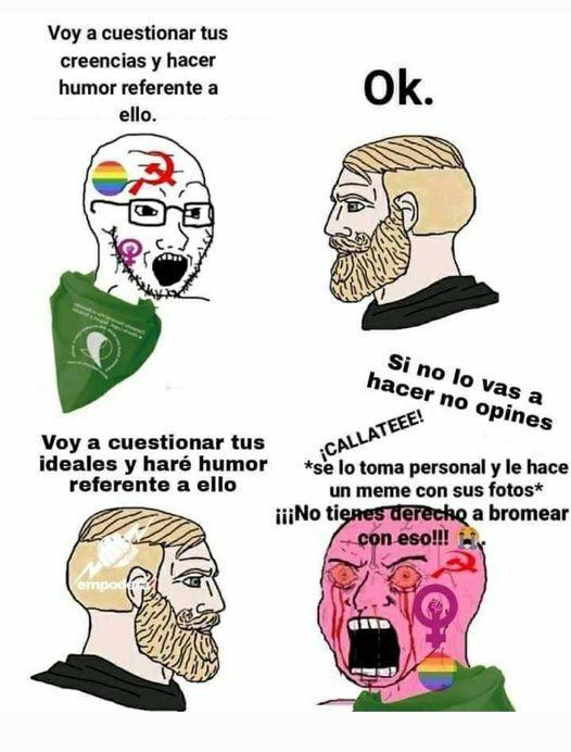 ya ni la muelan las feministas - meme