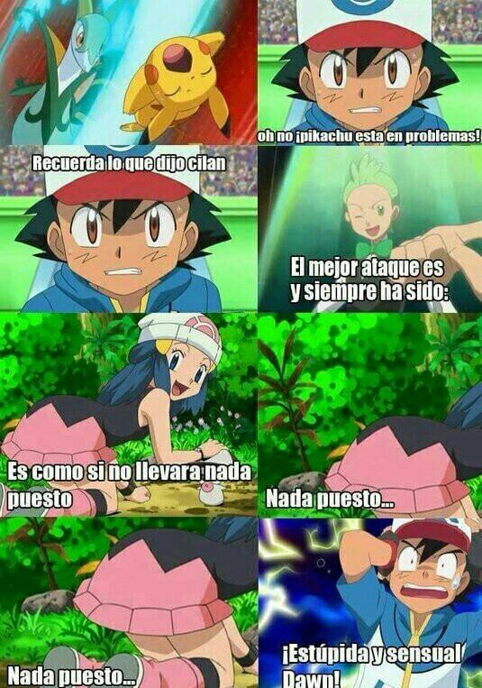 Y así fue como Ash perdió el combate - meme