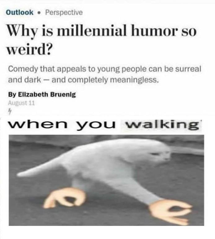 HEY I'M W A L K I N G Here - meme