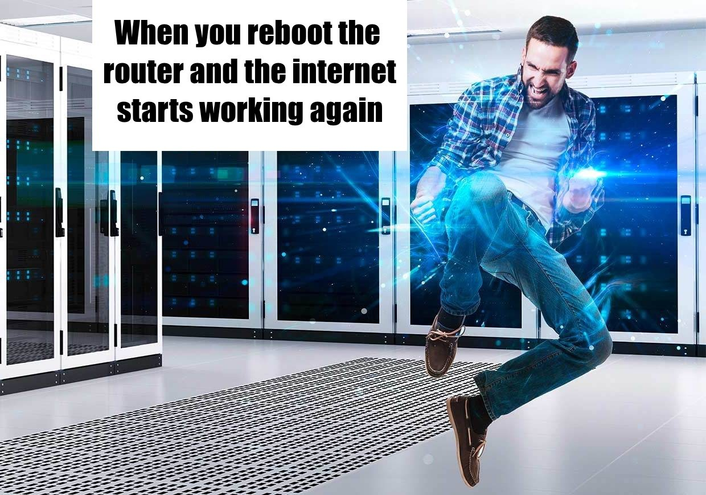 The new Hacker Man just teleports into random server rooms - meme