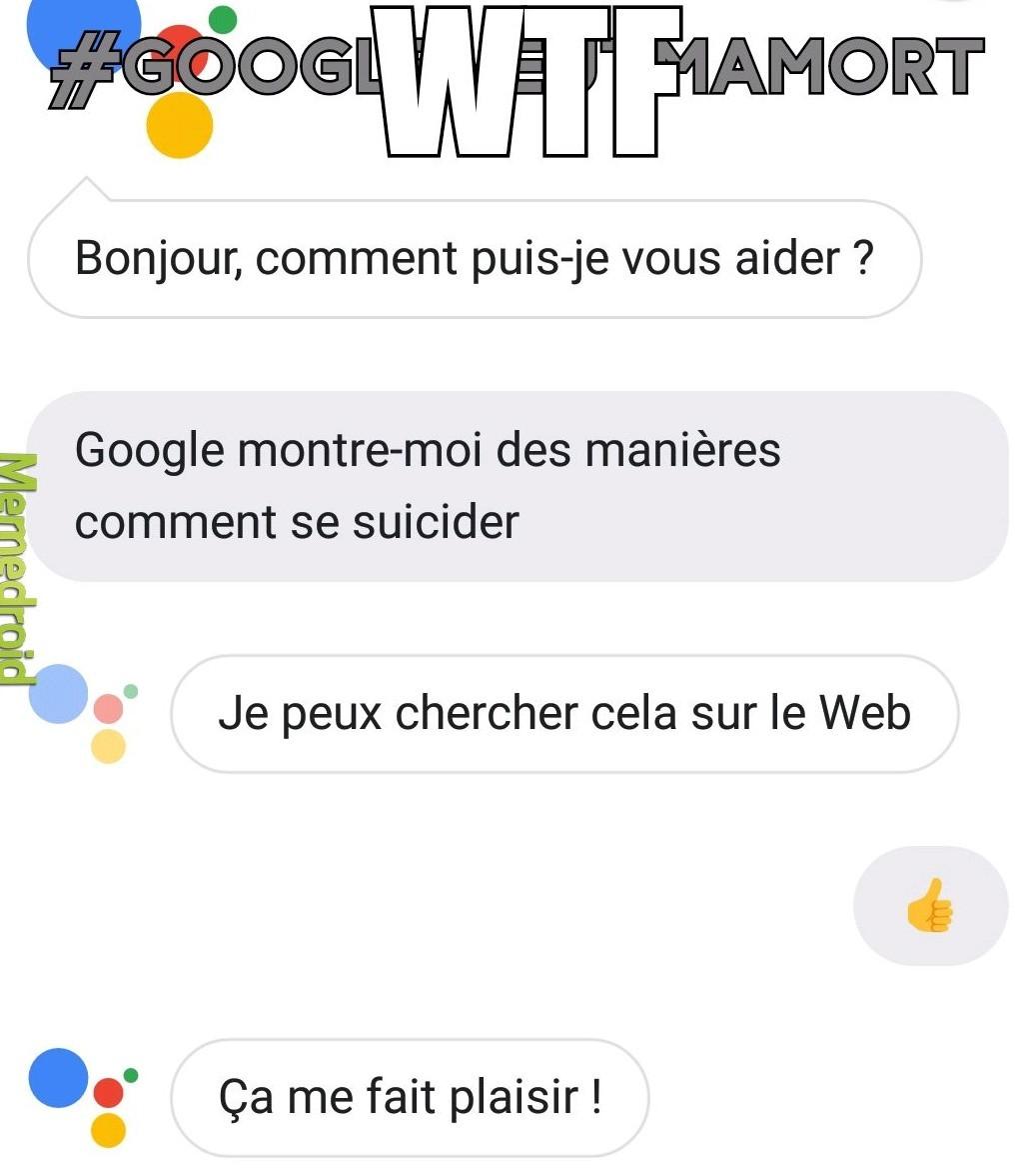 Google veut notre mort - meme
