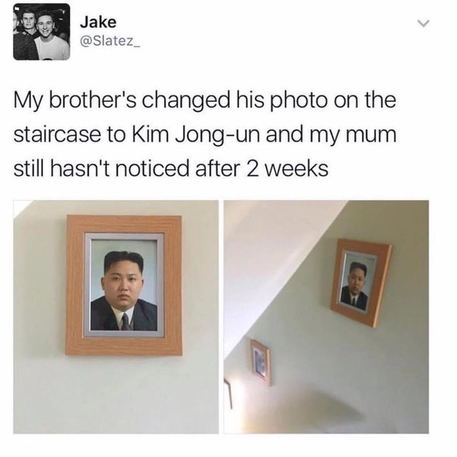 Mom has not noticed Kim Jong-un yet - meme