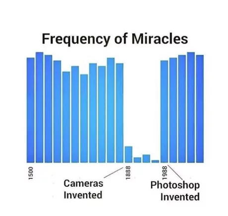Frequency of miracles - meme