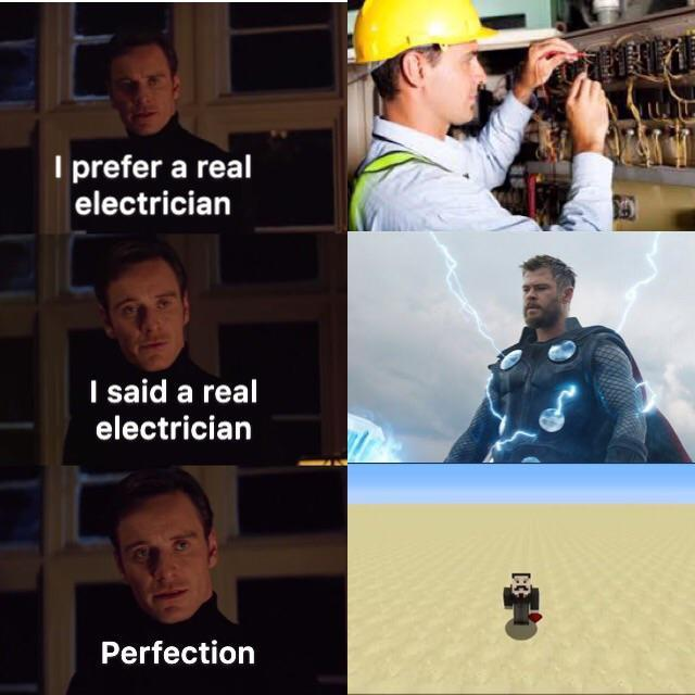 A real electrician - meme