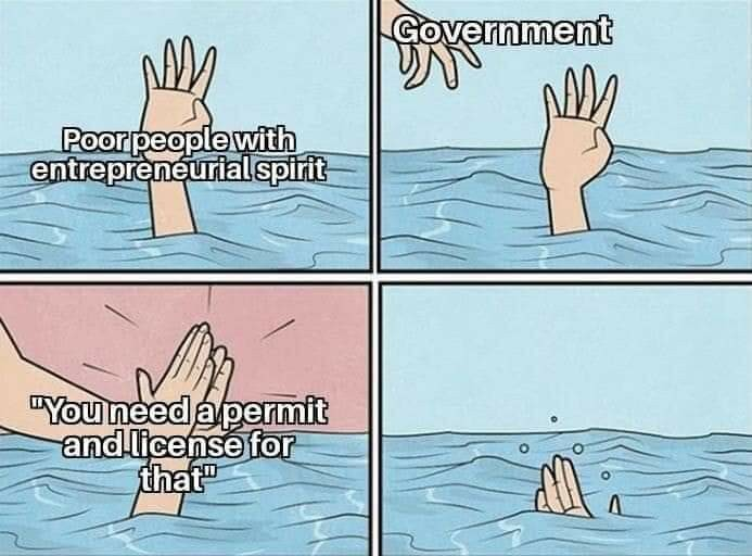 People that want more government shouldn't be allowed to vote. - meme