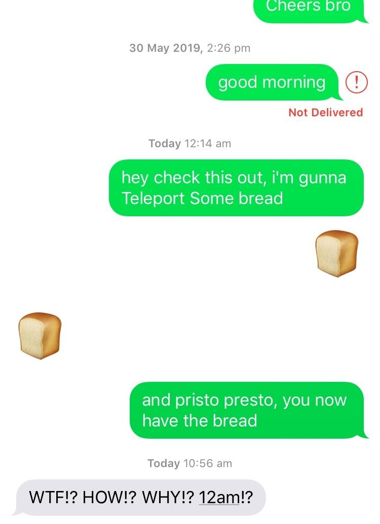 the secret ingredient is bread - meme
