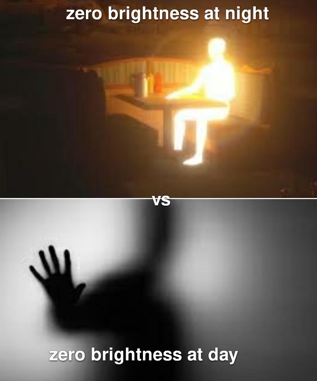 Dark vs light - meme