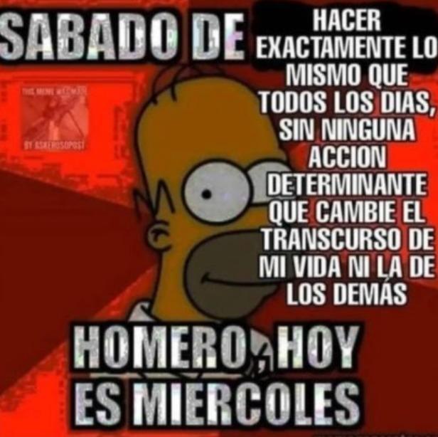 Homero medio edgy - meme
