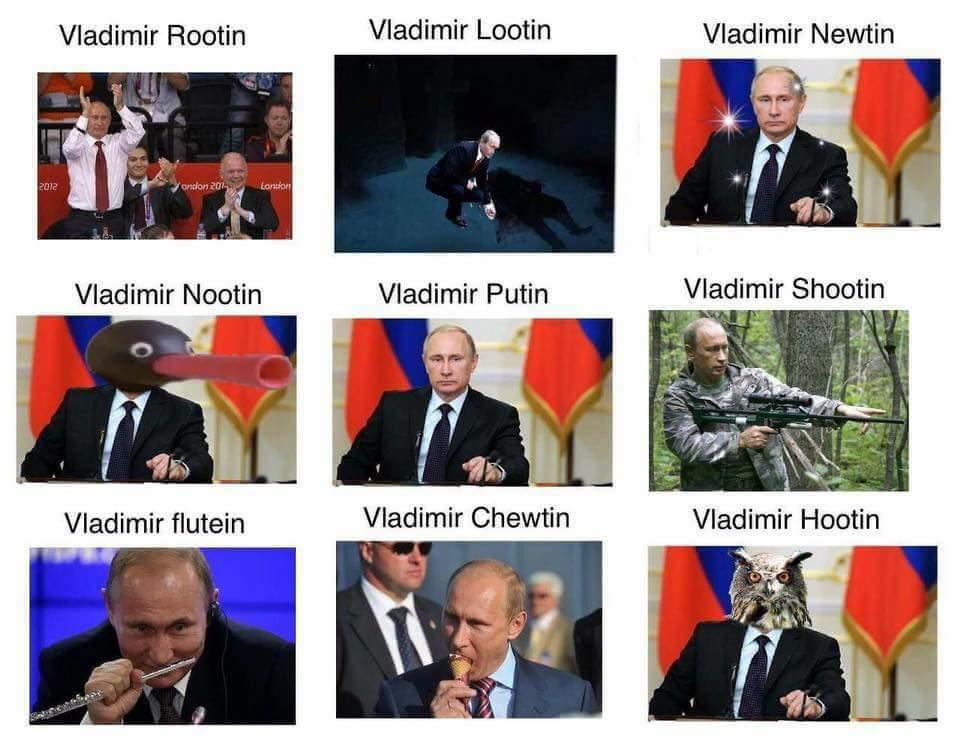 Rootin Tootin Putin - meme