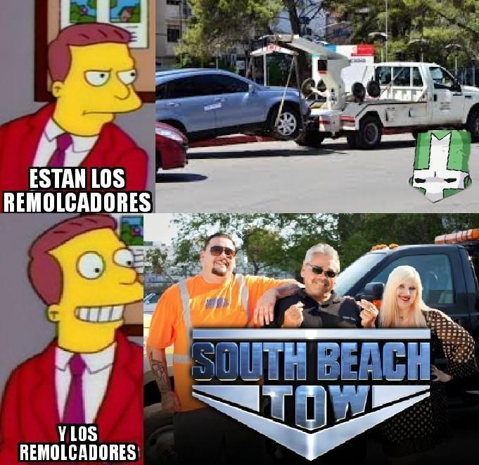 South beach tow - meme