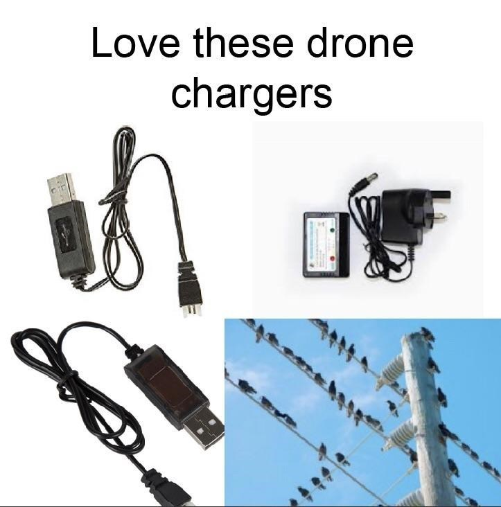 Drone chargers - meme
