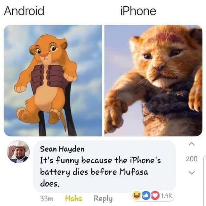 IPhone VS Android - meme