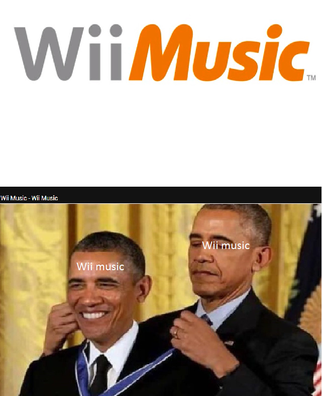 If you can't read the text of the video it says: Wii Music-Wii music - meme