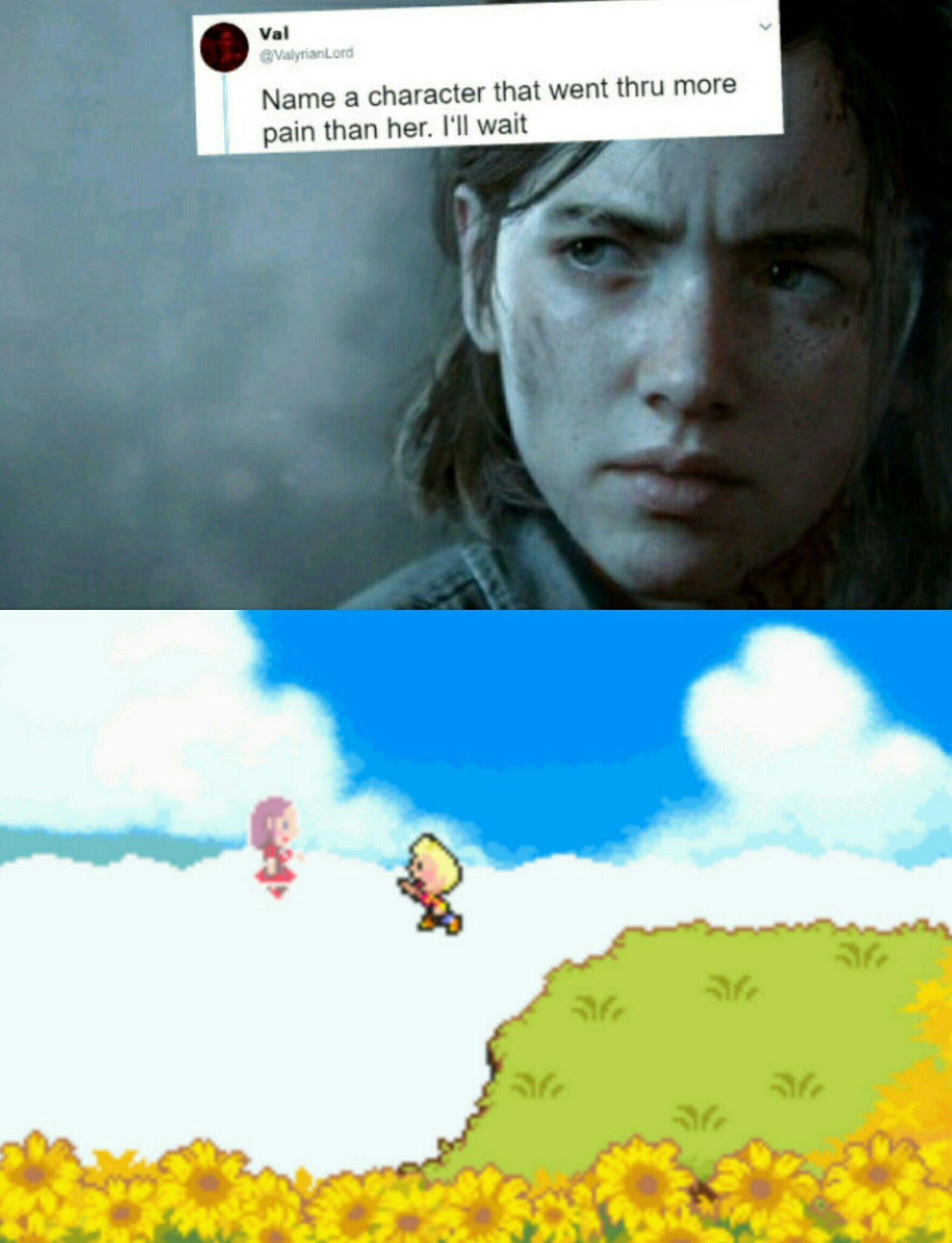 No crying till the end... - meme
