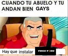 Cuando tu y tu abuelo andan bien gays - meme