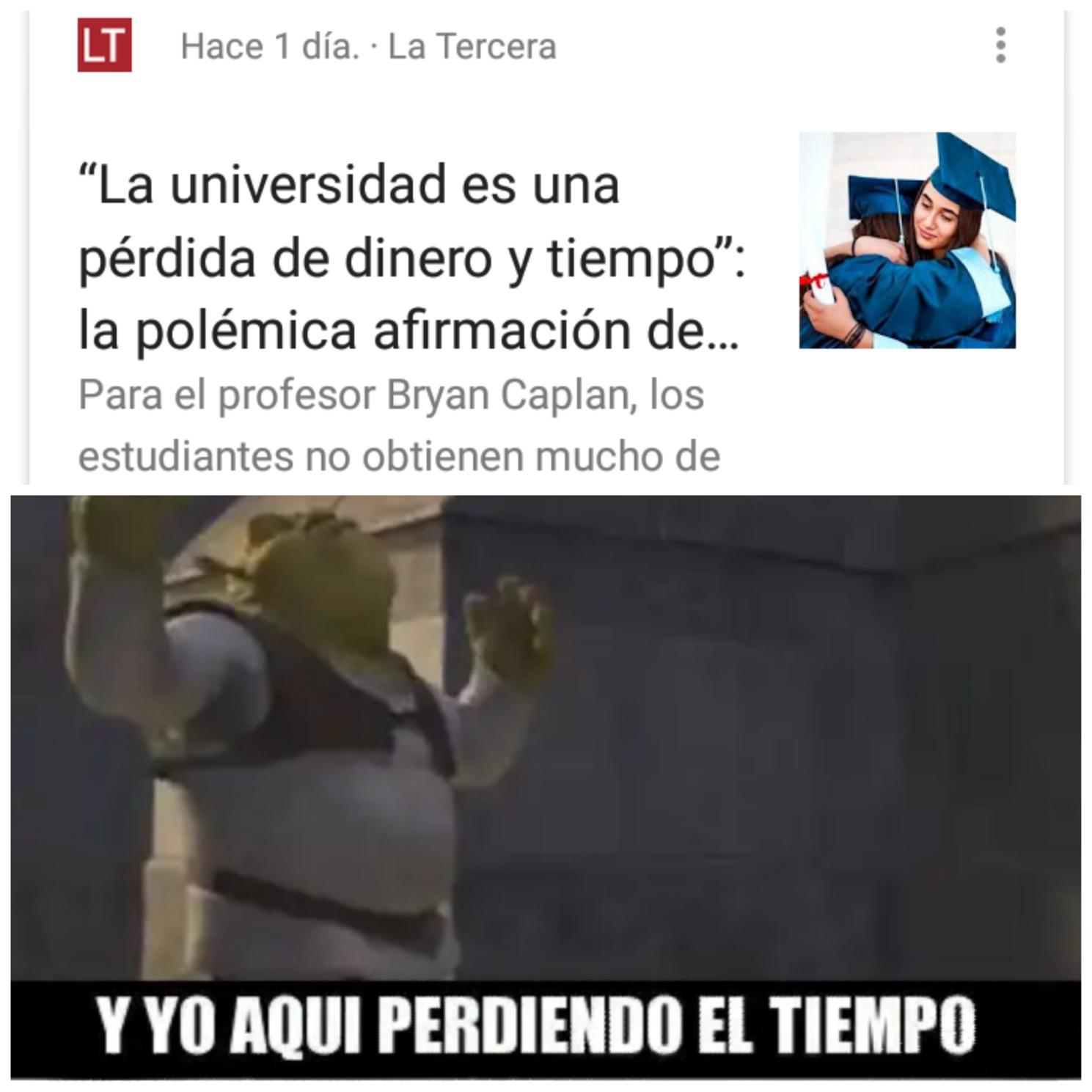 Ya no mas estudio - meme
