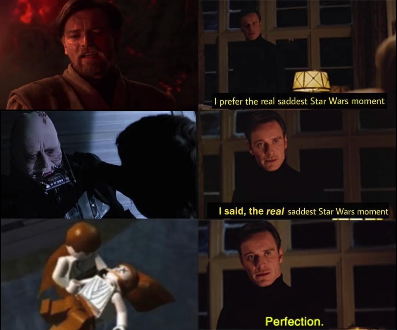 Lego Star Wars was so deep - meme