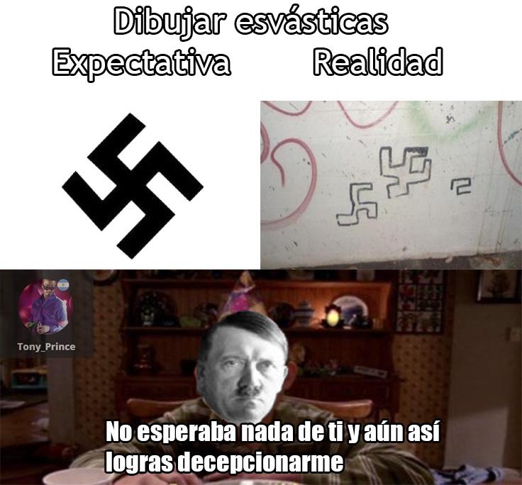 Estos intentos de Nazi estos días :facepalm: - meme