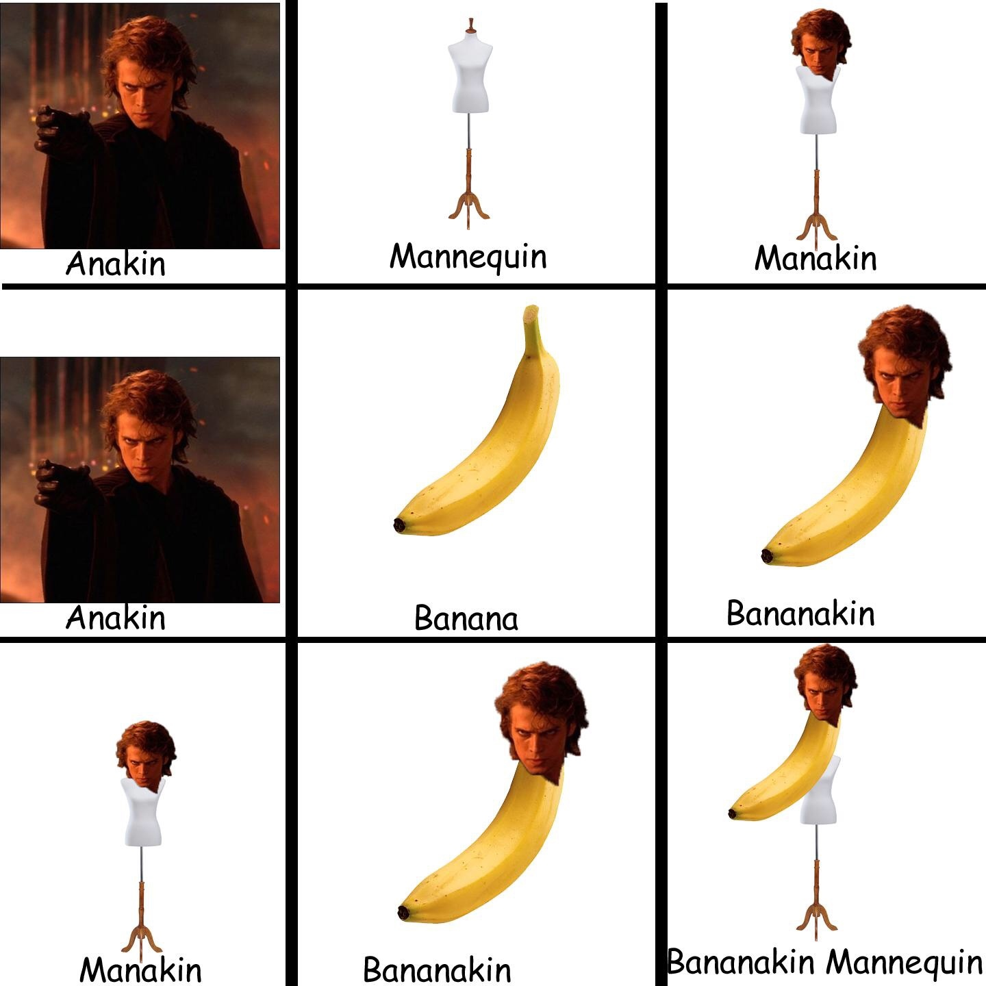YOU WERE MY BROTHER BANANAKIN - meme