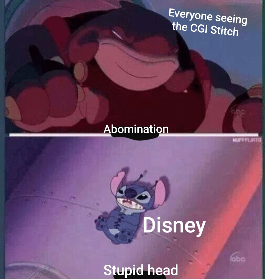 Yall think Disney will change stitch after all this backlash - meme